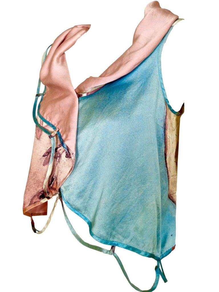 Issey Miyake Aya Takano Limited Edition 2004 Silkscreen Printed Circular Vest For Sale 8