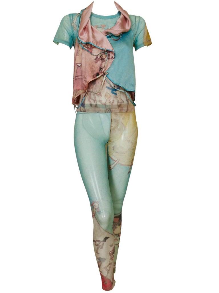 Issey Miyake Aya Takano Limited Edition 2004 Silkscreen Printed Circular Vest For Sale 11