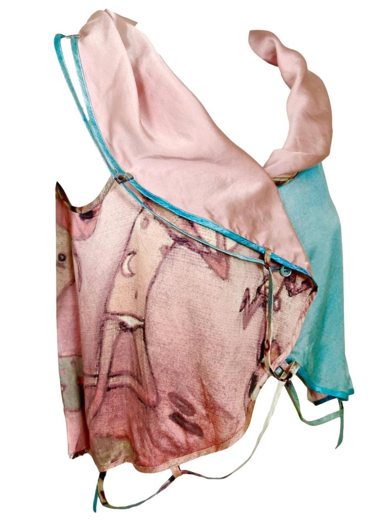 Issey Miyake Aya Takano Limited Edition 2004 Silkscreen Printed Circular Vest For Sale 1