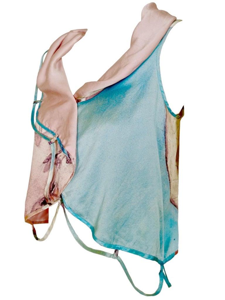 Issey Miyake Aya Takano Limited Edition 2004 Silkscreen Printed Circular Vest For Sale 3