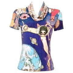 Issey Miyake Aya Takano Limited Edition 'Night' Funnel Neck T-Shirt