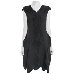 Issey Miyake Black Sleeveless Avant Garde Dress - M