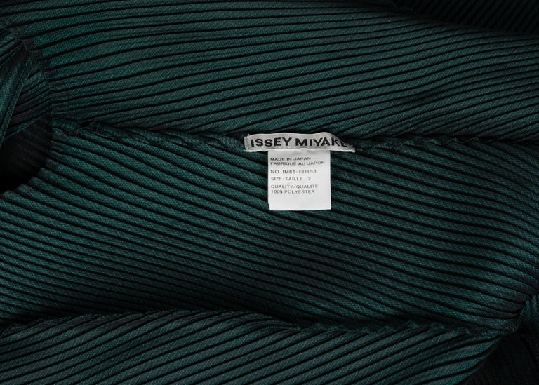 Issey Miyake Blue Green Pleated Sleeveless Dress For Sale 5
