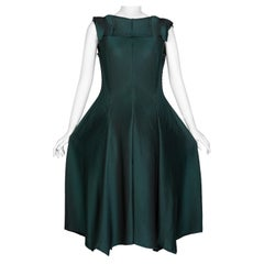 Issey Miyake Blue Green Pleated Sleeveless Dress