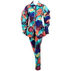 Issey Miyake Brightly Colored Zip Front Jacket and Pants
