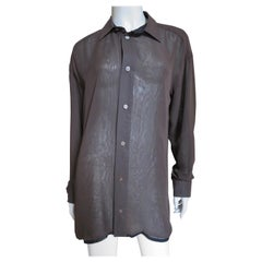 Issey Miyake Brown and Black Layer Shirt