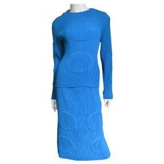Issey Miyake Circle Imprint Top and Skirt Set