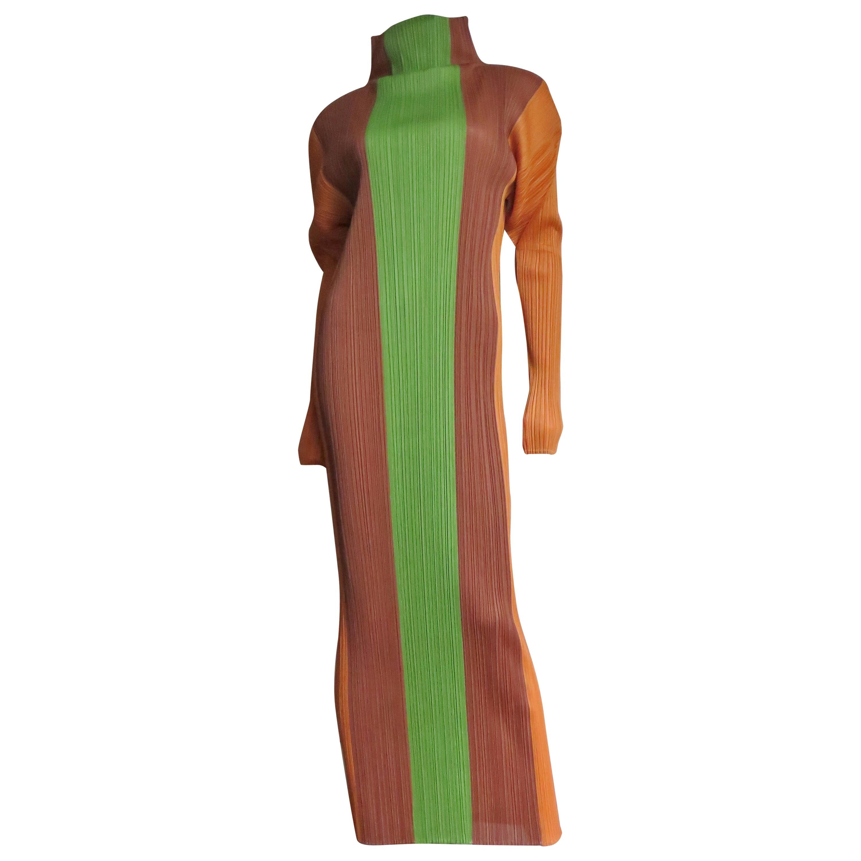 Issey Miyake Color Block Maxi Dress