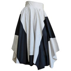 Issey Miyake Color Block Skirt 1990s