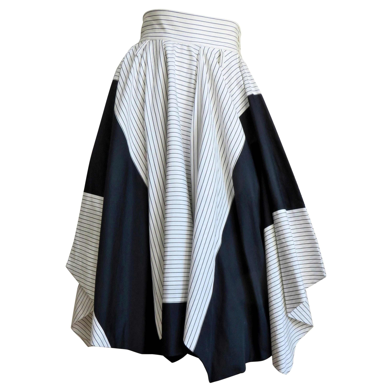 Issey Miyake Color Block Skirt 1990s