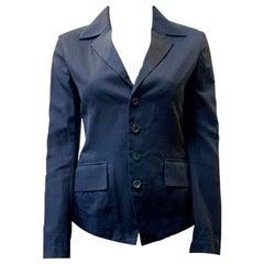 Issey Miyake Corset Leather Tie Jacket