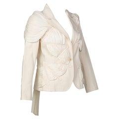 Issey Miyake Cream Cotton Canvas Jacket, 1990s