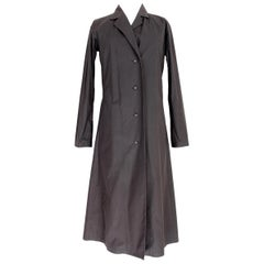 Issey Miyake Dark Gray Angora Wool Soft Long Trench Coat 1990s