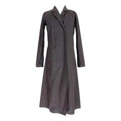 Issey Miyake Dark Gray Angora Wool Soft Long Trench Coat 1990s