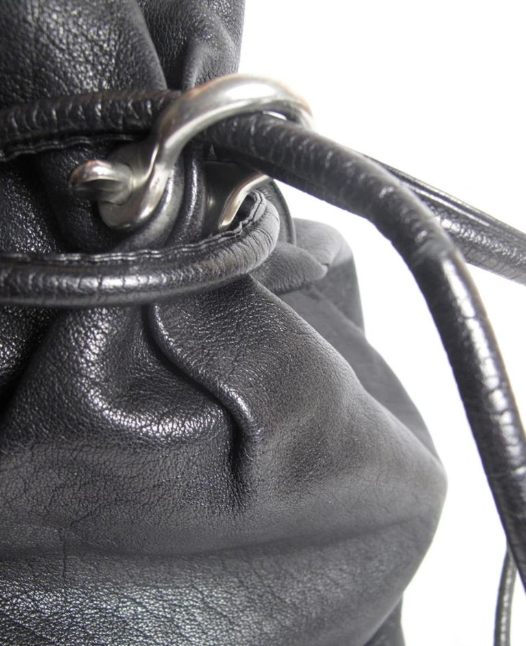 Issey Miyake Drawstring Bag, 1980s In Good Condition For Sale In Austin, TX