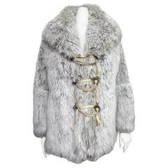 Issey Miyake Faux Fur Coat