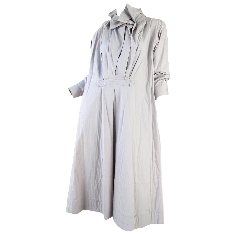 Issey Miyake Grey Cotton Dress, 1990s
