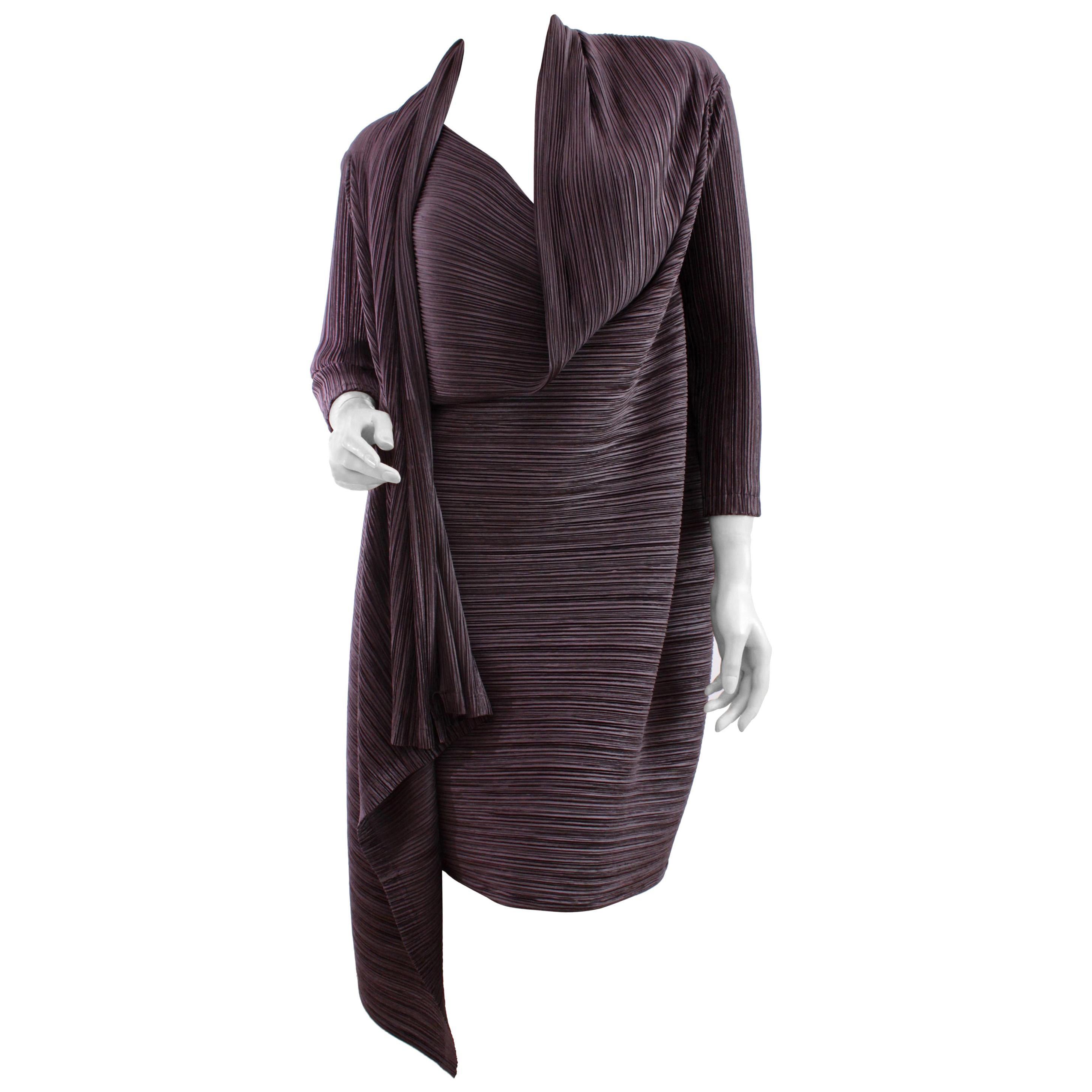 Issey Miyake Jacket Long Pleated Vintage Sz S/M