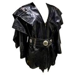 Issey Miyake Leather Belt Dress