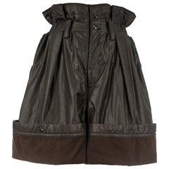 Issey Miyake olive nylon parachute shorts, fw 1983