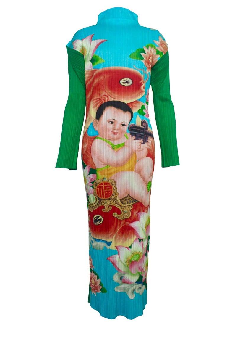 Gray Issey Miyake Pleats Please Machine Gun Baby Dress