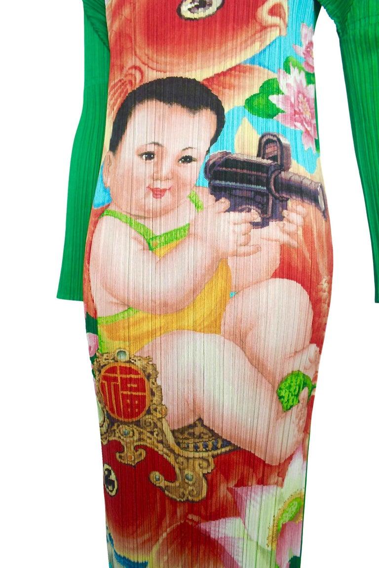 Issey Miyake Pleats Please Machine Gun Baby Dress  In Excellent Condition In Bath, GB