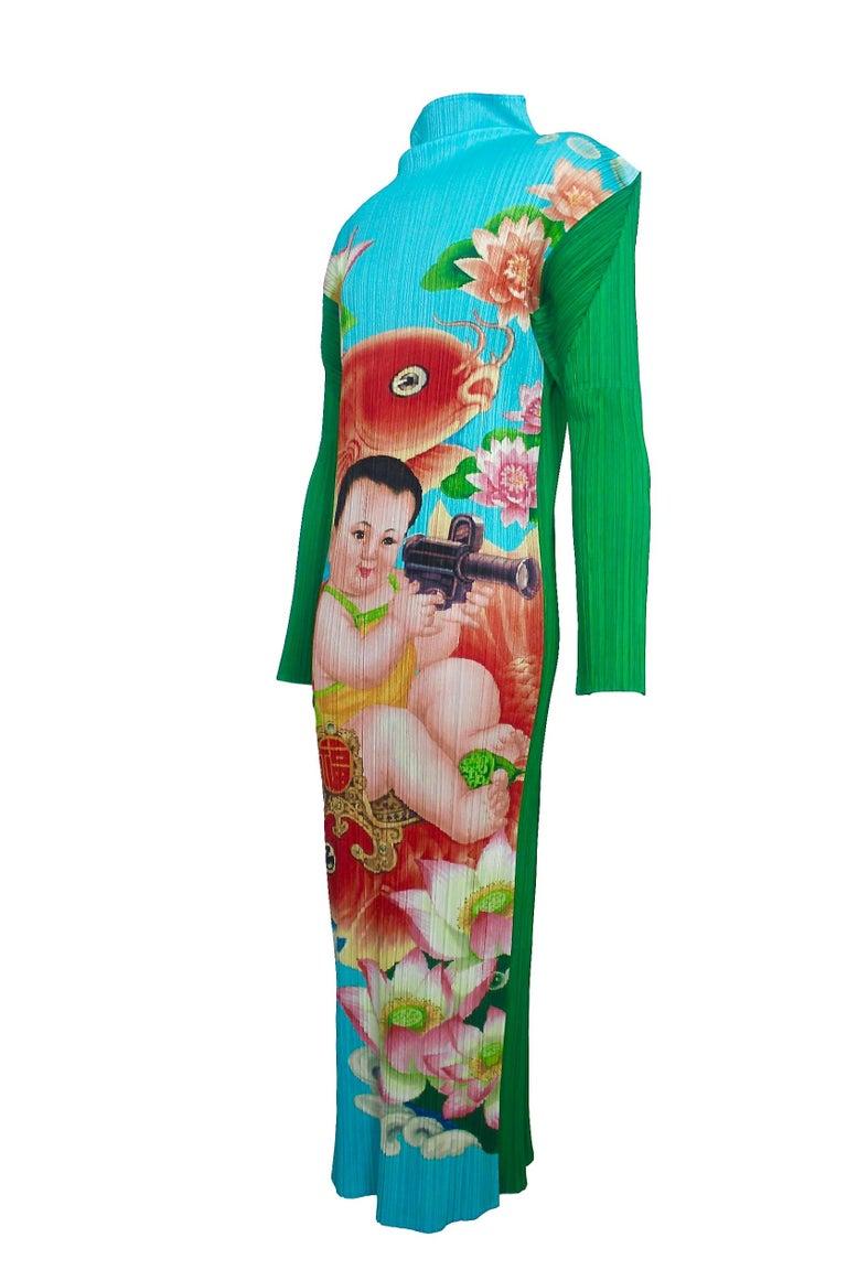 Women's Issey Miyake Pleats Please Machine Gun Baby Dress