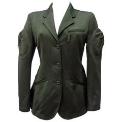Issey Miyake Rare Green Bomber Jacket