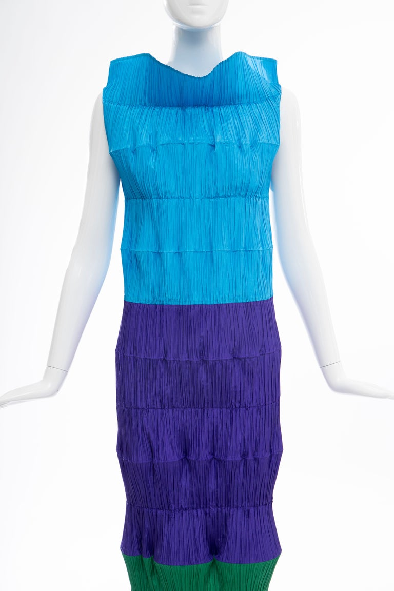 Blue Issey Miyake Runway Flying Saucer Dress, Spring 1994 For Sale