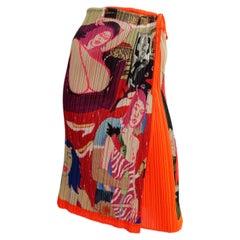 Issey Miyake Skirt With Art Illustration Print