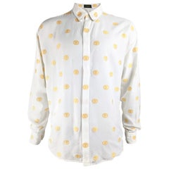 Istante by Gianni Versace Mens Vintage Embroidered Shirt