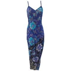 Istante by Gianni Versace multicoloured flower long dress