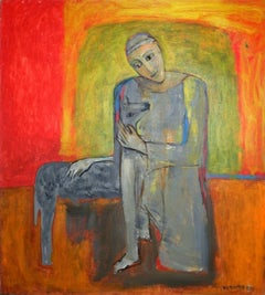 Friend - 21 century, Oil figurative painting, Animals, Bright colors, Warm tones