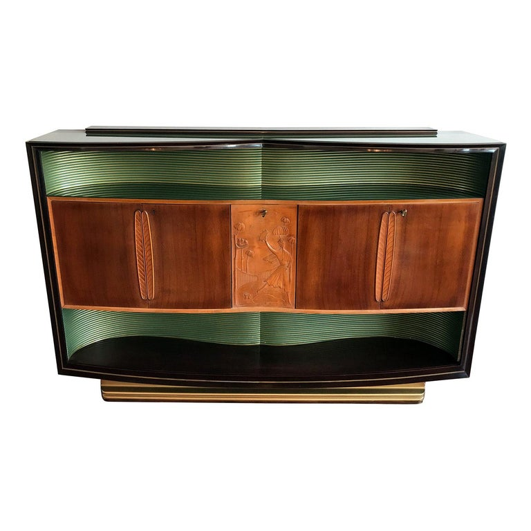 Italian Mid-Century Sideboard Art Déco style by Vittorio Dassi, 1950s For Sale