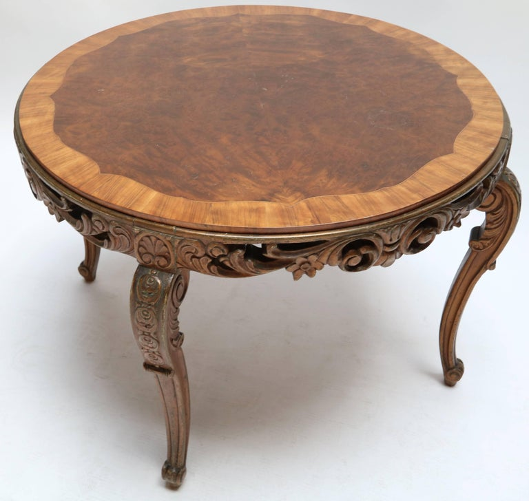 italian 1920s carved wood coffee table for sale 2 - Carved Wooden Coffee Tables