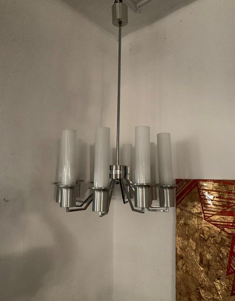 Italian 10-Light Mid-Century Modern Chandelier ITSO Artemide, circa 1970 For Sale 5