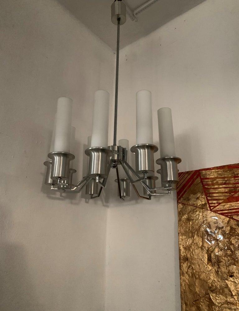 Italian 10-Light Mid-Century Modern Chandelier ITSO Artemide, circa 1970 For Sale 6