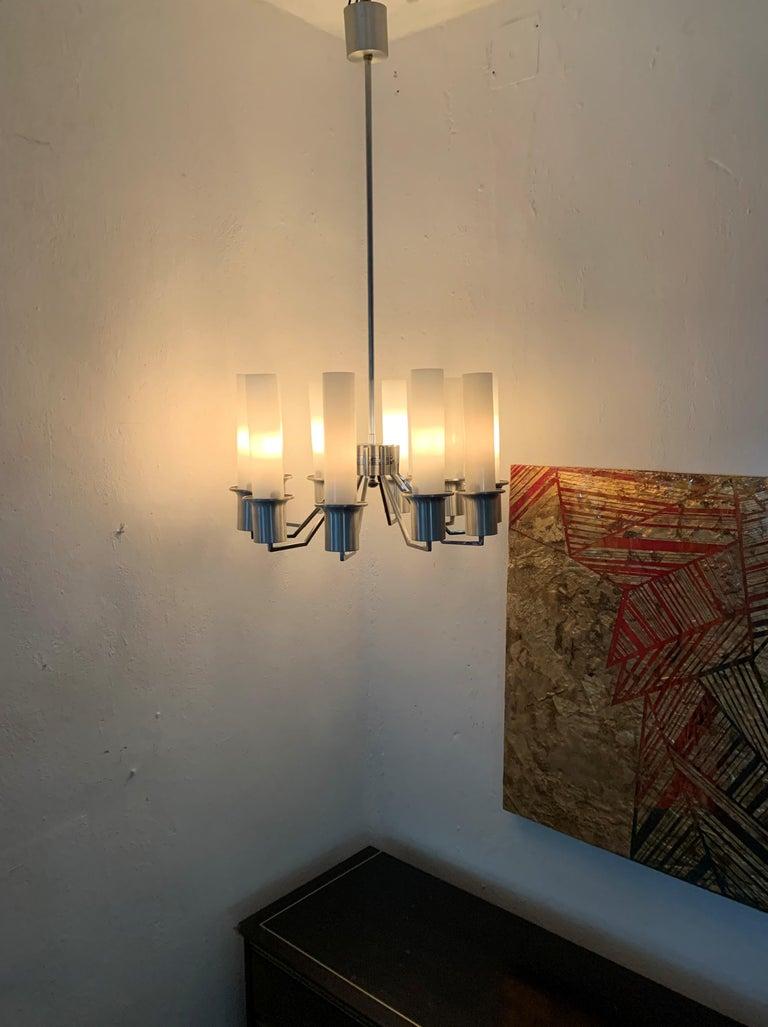 Italian 10-Light Mid-Century Modern Chandelier ITSO Artemide, circa 1970 For Sale 8