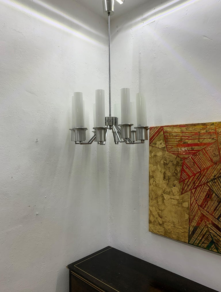 Italian 10-Light Mid-Century Modern Chandelier ITSO Artemide, circa 1970 For Sale 13