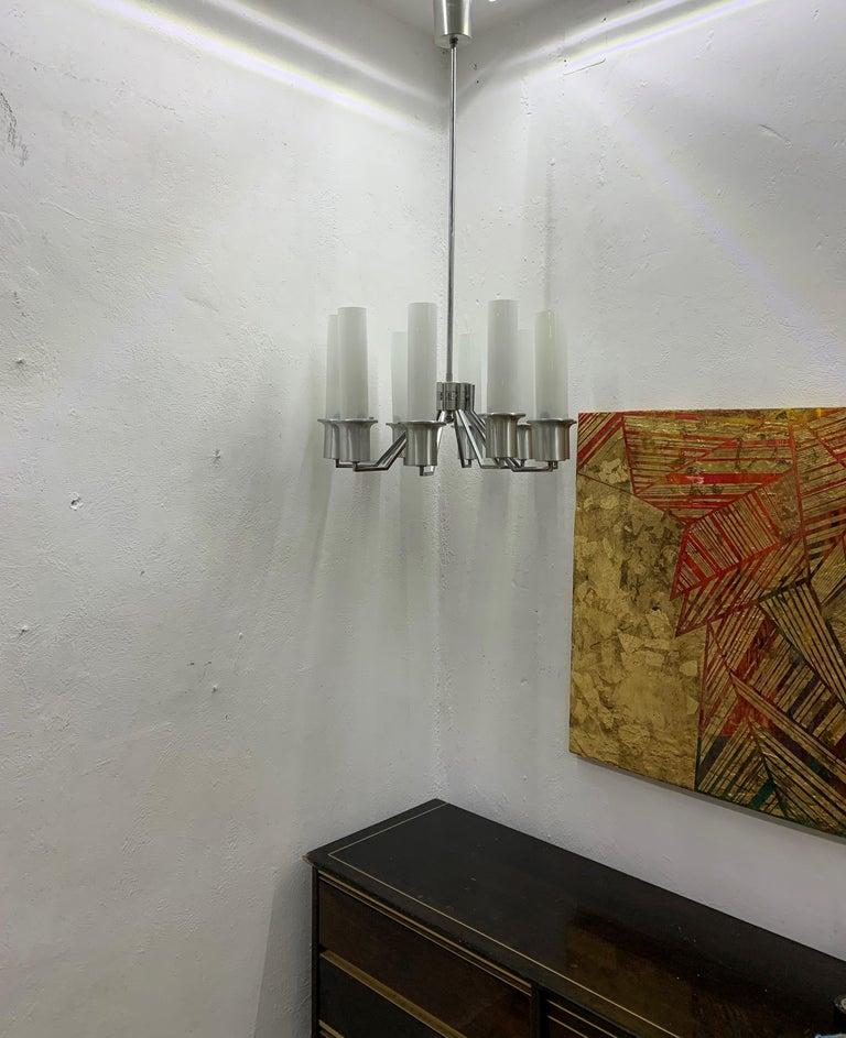 Italian 10-Light Mid-Century Modern Chandelier ITSO Artemide, circa 1970 For Sale 14