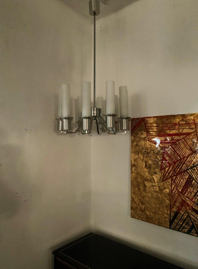 Italian 10-Light Mid-Century Modern Chandelier ITSO Artemide, circa 1970 For Sale 4