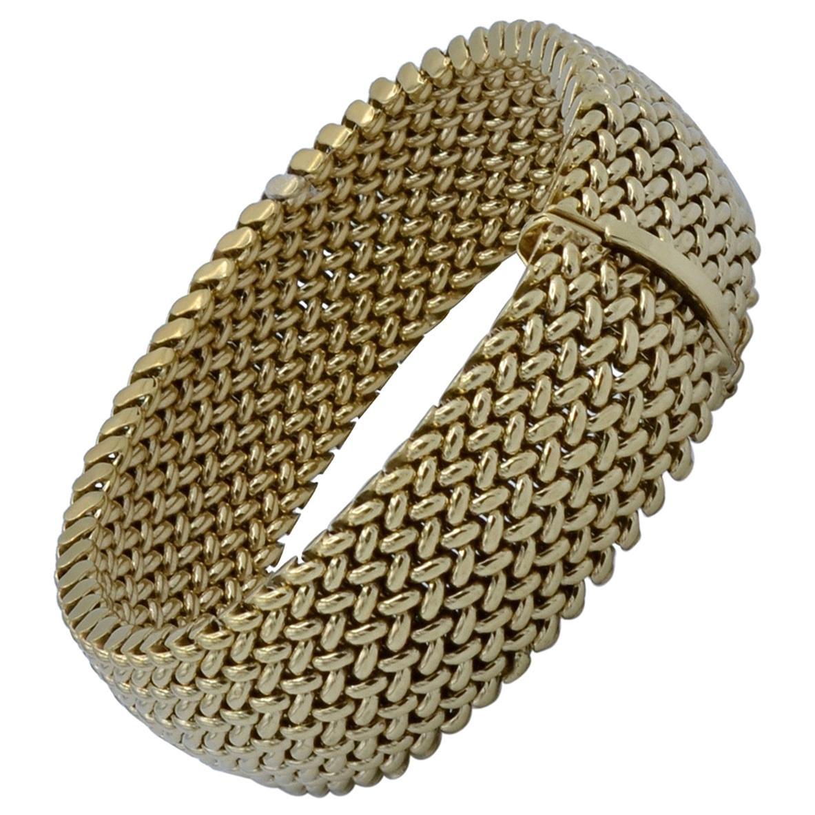 Italian 14 Carat Gold Mesh Bracelet