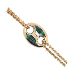 Italian 14 Karat Yellow Gold Mariner Link Bracelet 3 Grams