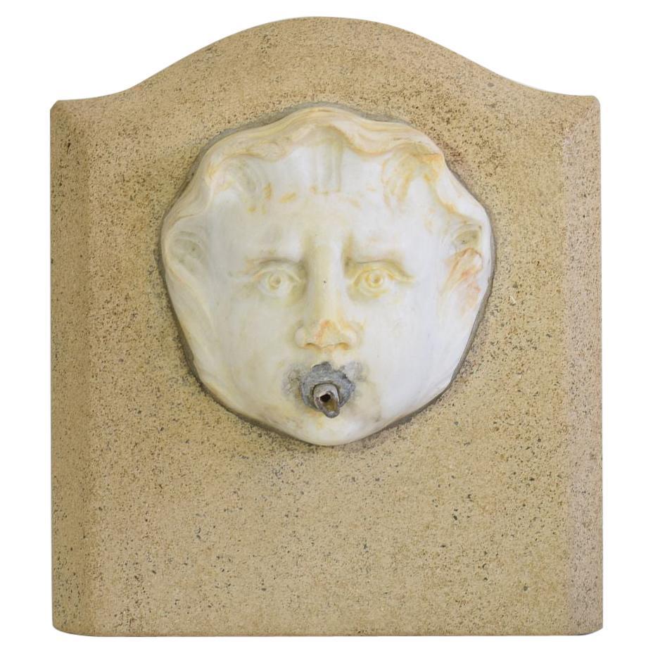 Italian 17th-18th Century Marble Fountain Head
