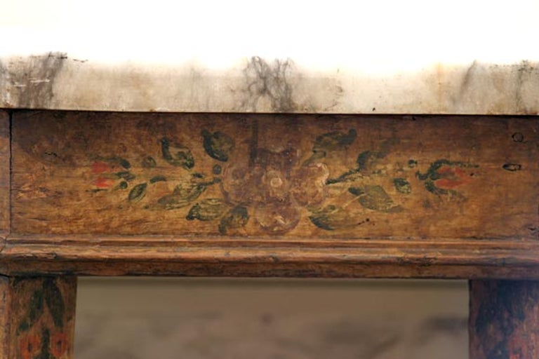 Italian 17th Century Baroque Painted Console In Good Condition For Sale In New Orleans, LA