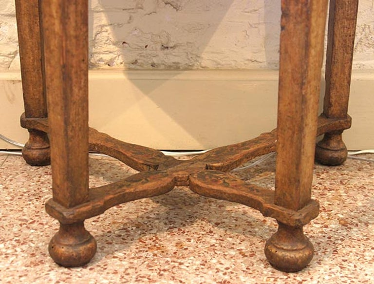 Italian 17th Century Baroque Painted Console For Sale 1