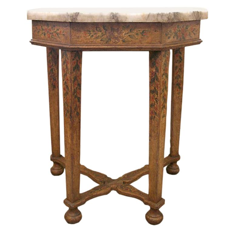 Italian 17th Century Baroque Painted Console For Sale