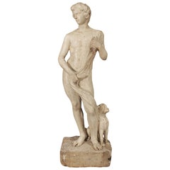 Italian 17th Century Louis XIV Period White Carrara Marble Statue