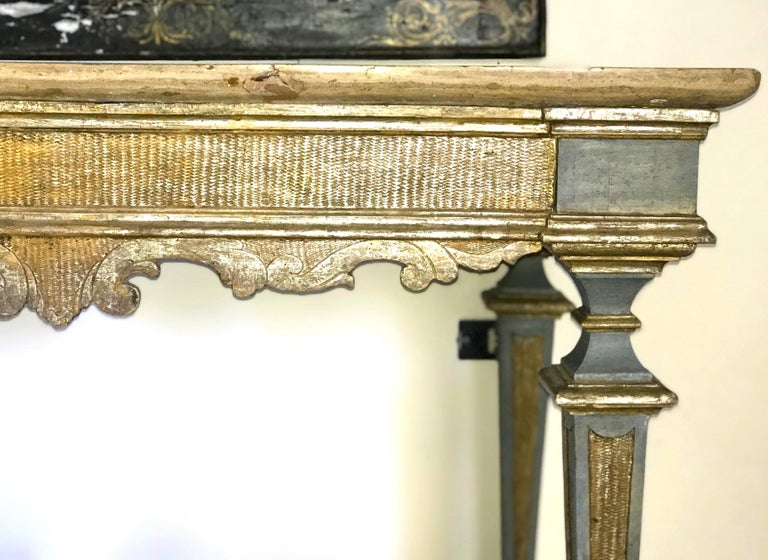Italian 17th Century Painted and Parcel-Gilt Console Table For Sale 3
