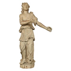 Italian 17th Century Patinated Wood Carved Statue